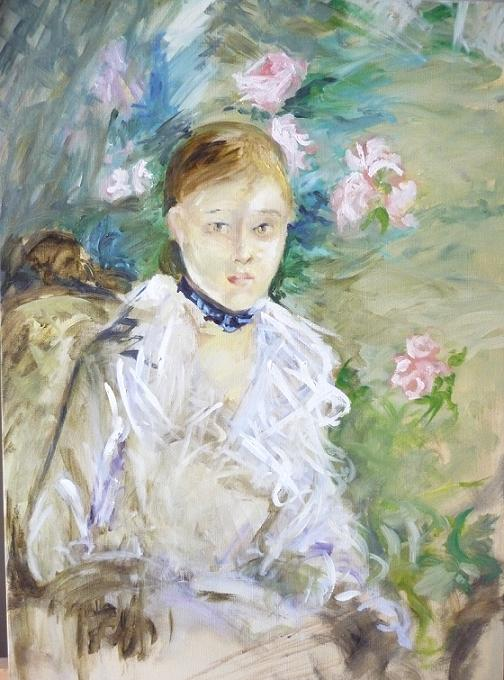 Copy Anne-Sophie Bonno - Berthe Morisot - The Summer - Oil painting on canvas