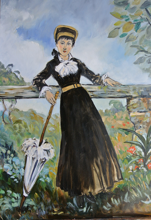Copy from Manet's atelier - Woman with a parasol - oil painting on canvas