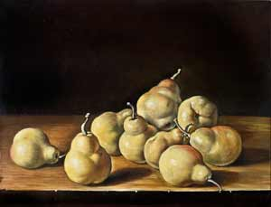 Luis Melendez - Nature morte with pears