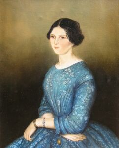 Portrait of a young lady, 19th century - Copy from a family portrait