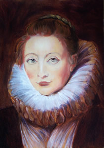 Rubens - Portrait of Clara Serena or of Infante Isabella's maid